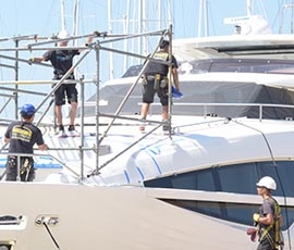 scaffolding for yachts
